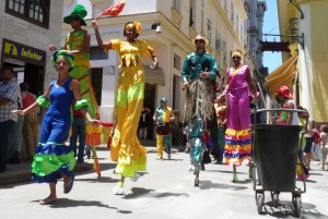 Parades like this are common