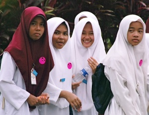 Schoolgirls on an outing