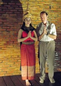 Meeting a traditional dancer performing in Luang Prabang, Laos