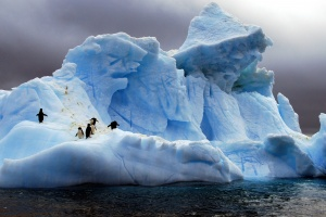 Off Graham Coast, Antarctica. Wind,