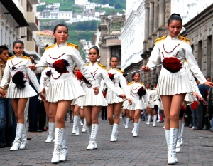 High school students march in