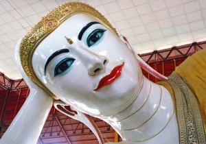 Giant reclining Buddha in Yangon, Myanmar (Burma)