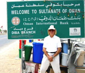 At the border between Oman